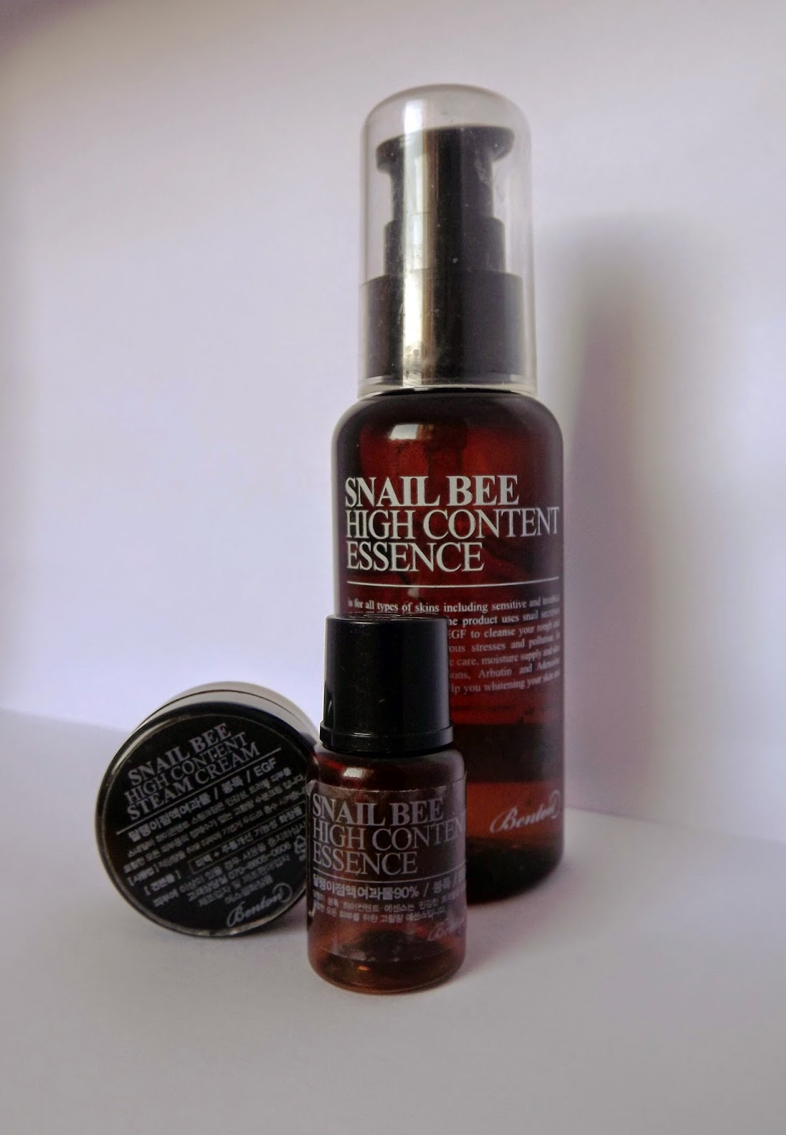Full size Benton Snail Essence and Snail Essence and Steam Cream samples