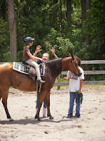 Summer camp horse riding