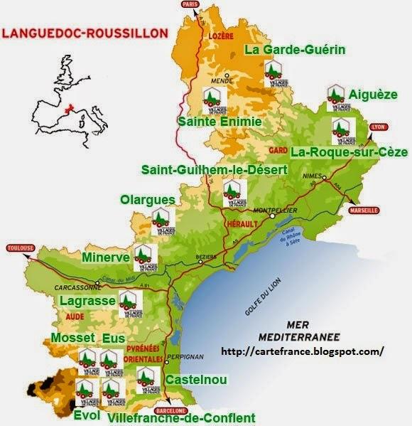 Carte Languedoc Roussillon.Languedoc Roussillon Carte Departement Carte France Departement Region