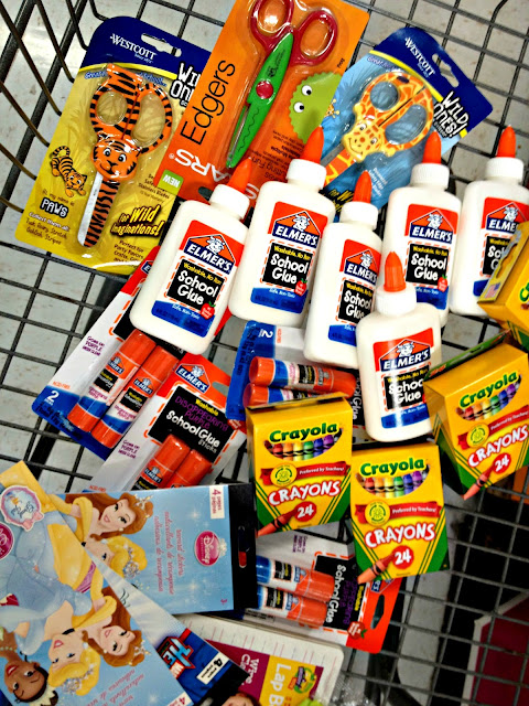 Quality School Supplies from Walmart to donate through #BagItForward Elmer's Glue Crew