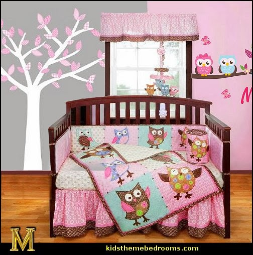 Owl Theme Bedroom Decorating Ideas Room Decorations Themed Baby Nursery Owls