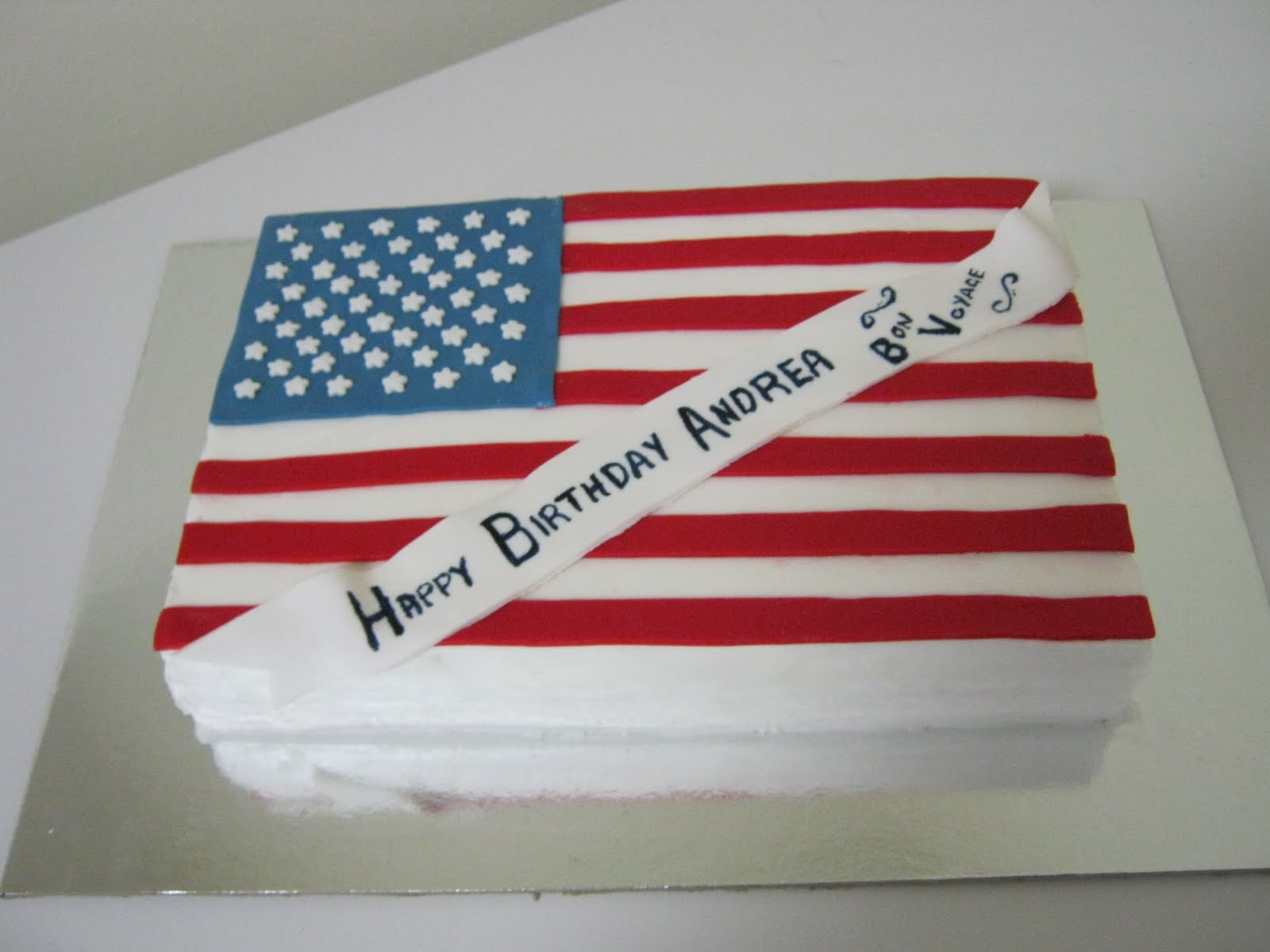 Driftwood Cakes - Cake Baker and Decorator: American Flag Cake