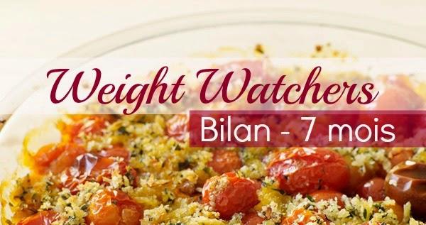 Mon régime Weight Watchers - Bilan 7 mois