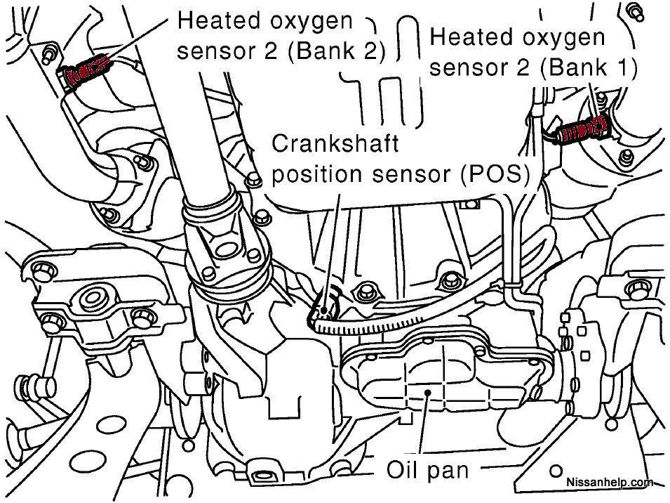 Bank 2 Sensor 1 Location Infiniti on toyota tundra oxygen sensor wiring diagram