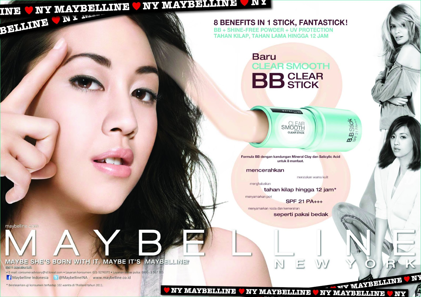Maybelline Clear Smooth BB Clear Stick In Natural And