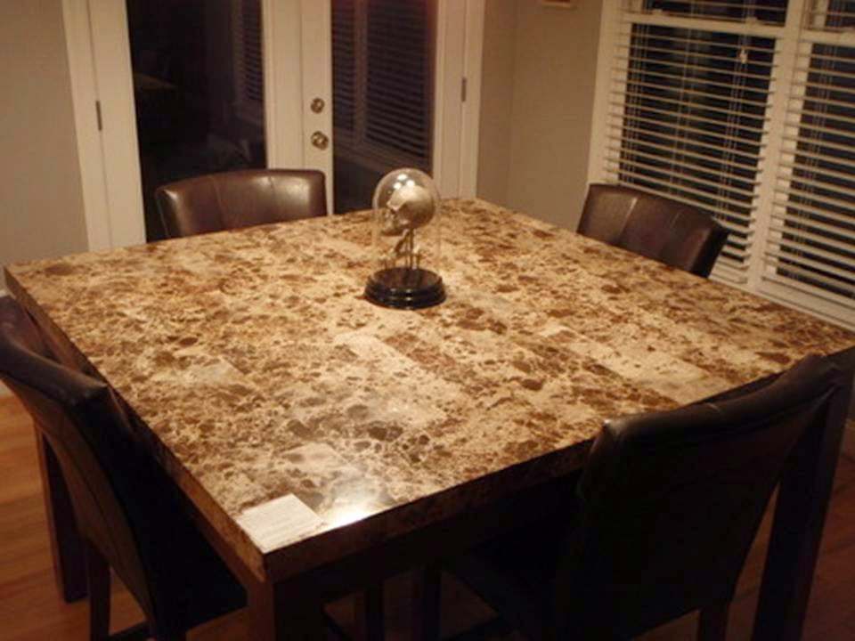 Countertop Height Kitchen Table Sets : kitchen table fantastic marble kitchen table fantastic marble kitchen ...