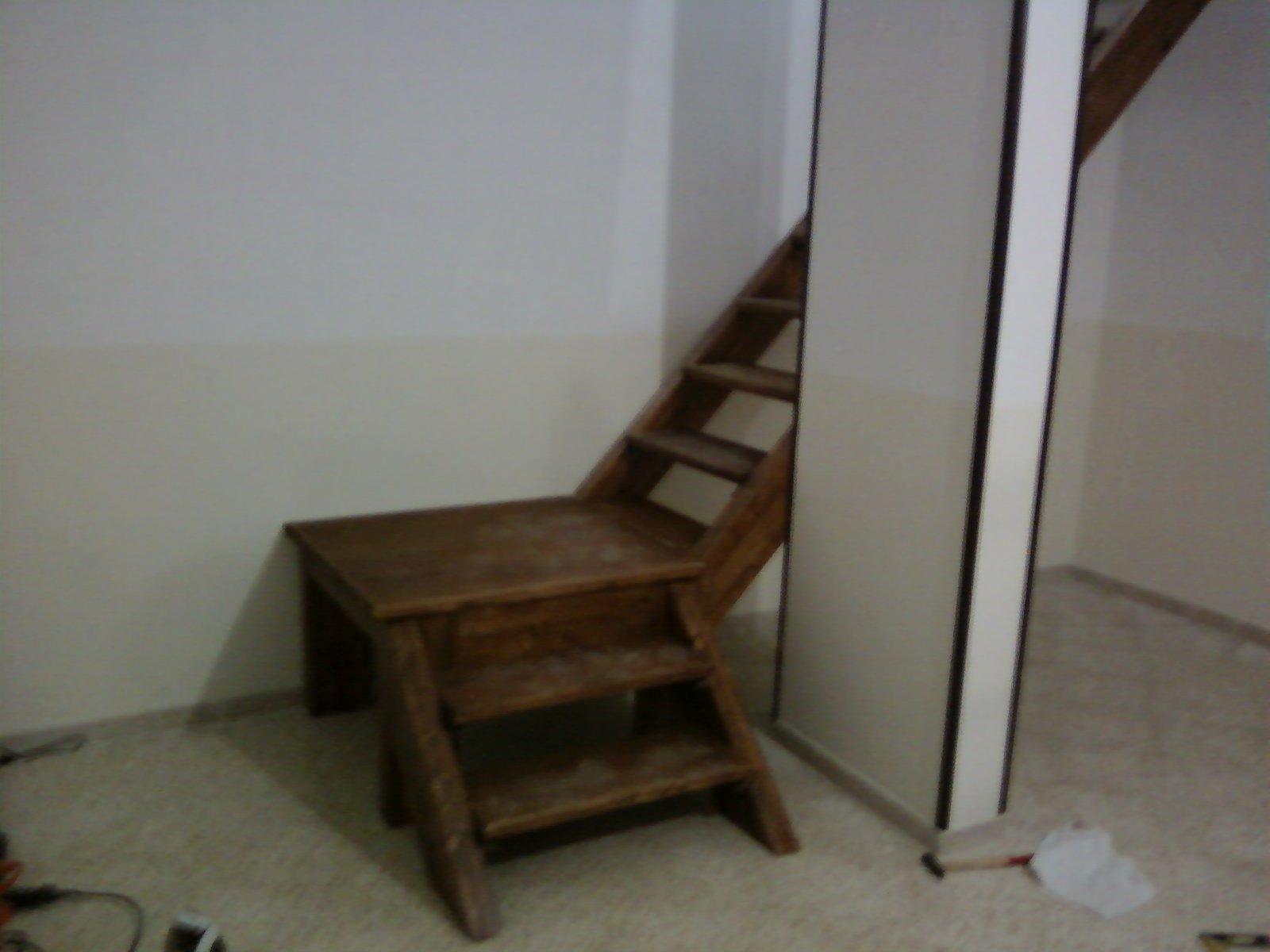 Fai da te hobby legno scala con soppalco for Soppalco garage di stoccaggio fai da te