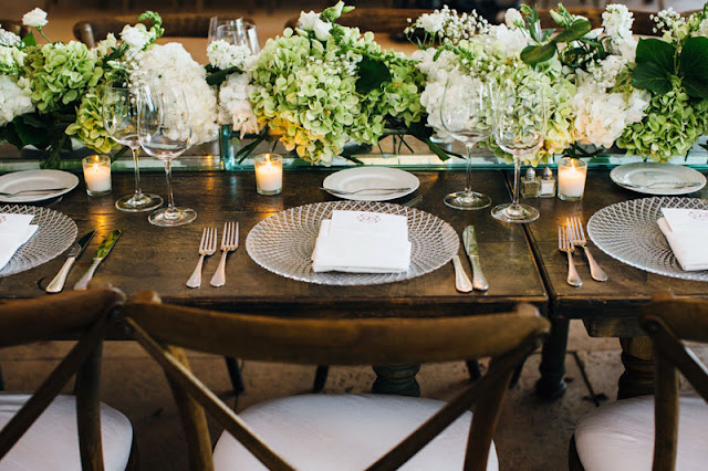 Elegant Garden Wedding Table Setting