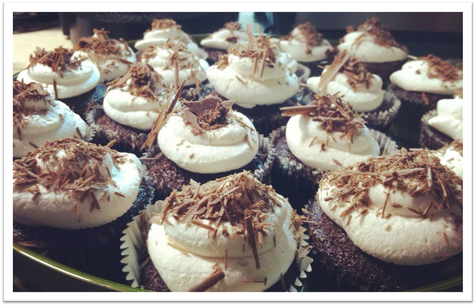 ... : black magic chocolate cupcakes w/ vanilla whipped cream frosting