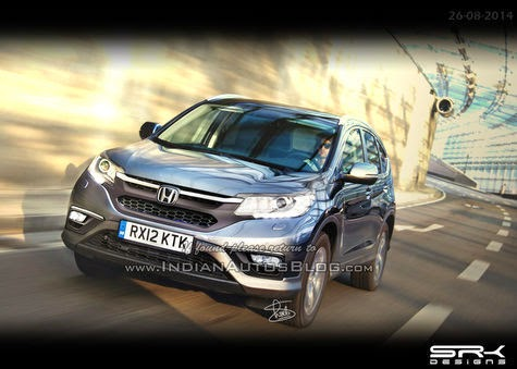 Prediction look Honda CR-V facelift in 2015!