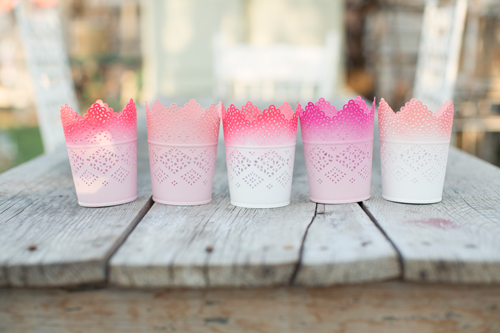 ombre candle holders DIY