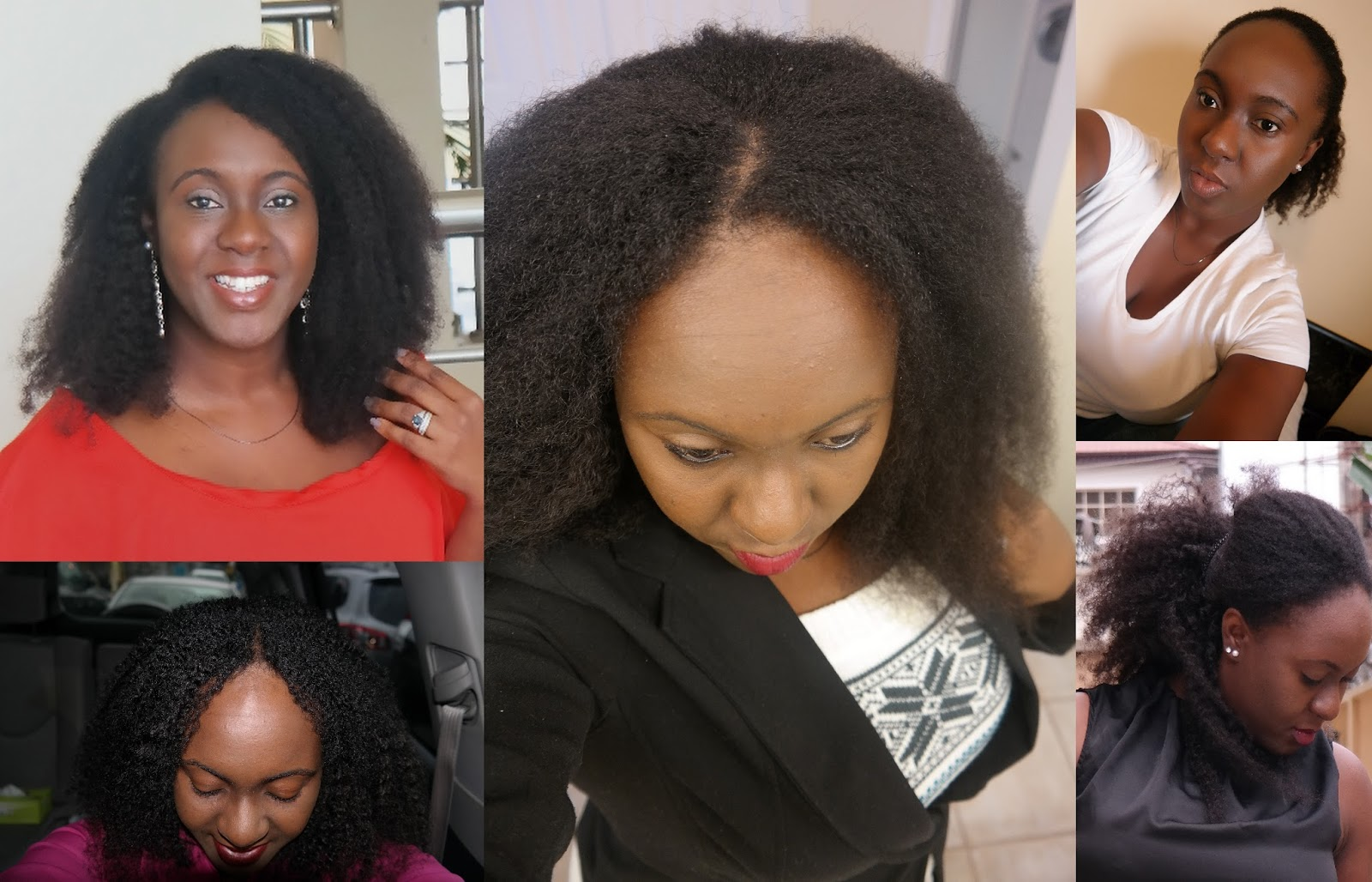 Berry Dakara Straight Hair Versus Coily Hair