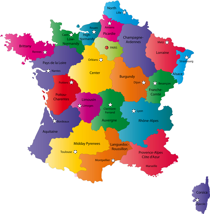 map of france with cities and towns. Map of France Cities Pictures