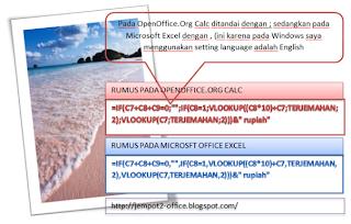 cara membuat jumlah terbilang or terjemahan uang pada OpenOffice Calc