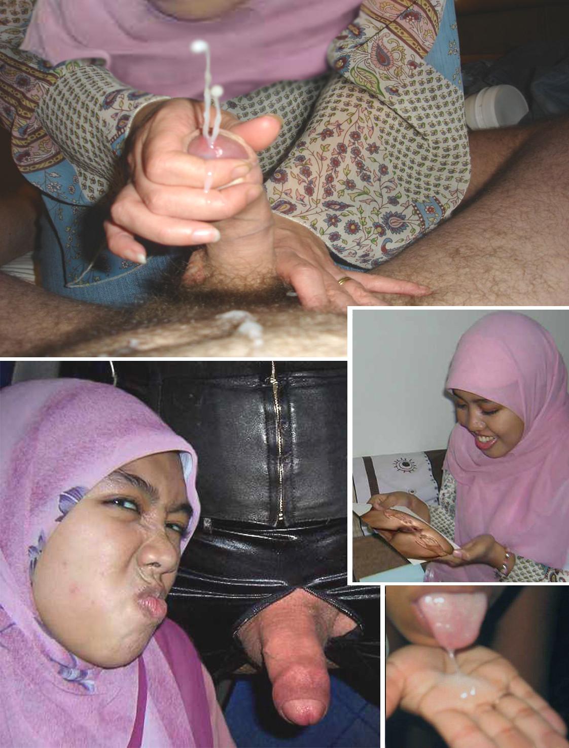 jilbab blowjob