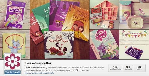 Livres et merveilles sur Instagram
