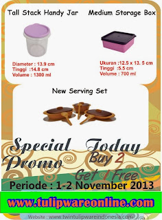 Promo Tulipware 1 dan 2 November 2013