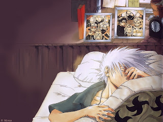 Sleeping Hatake Kakashi Anime HD Wallpaper Desktop Background