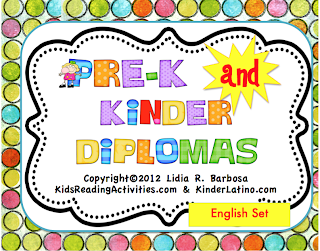 Classroom Freebies: Diplomas for Pre-K and Kindergarten