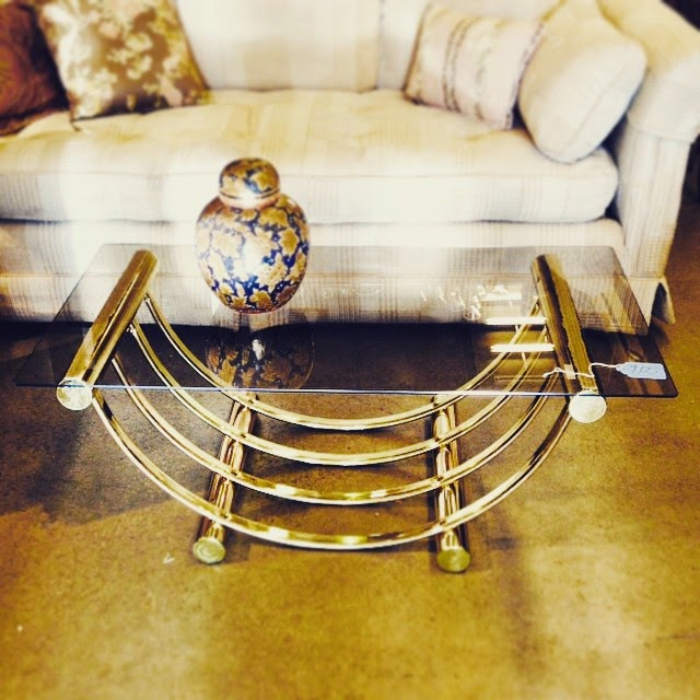 #thriftscorethursday Week 60 | Instagram user: stephlovesdesign shows off this Brassy Coffee Table