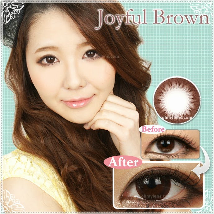 Joyful Brown Contact Lenses at ohmylens.com