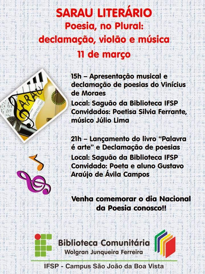 Dia Nacional da Poesia - 2014