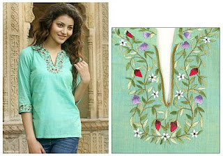 http://unique-gifts.novica.com/womens/clothing/cotton-blouse-cool-garden/184475/