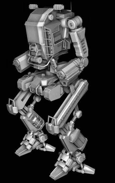 3d robot model 3d puzzle image for Schreibtisch 3d modell