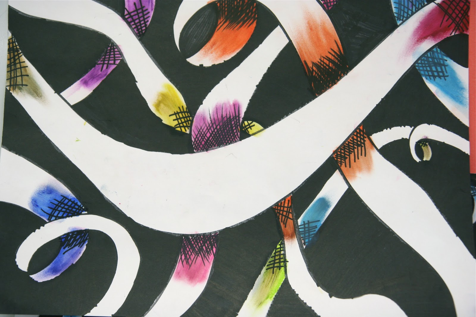Curved Line Design Art : Abstract wave element for design stylized line art background