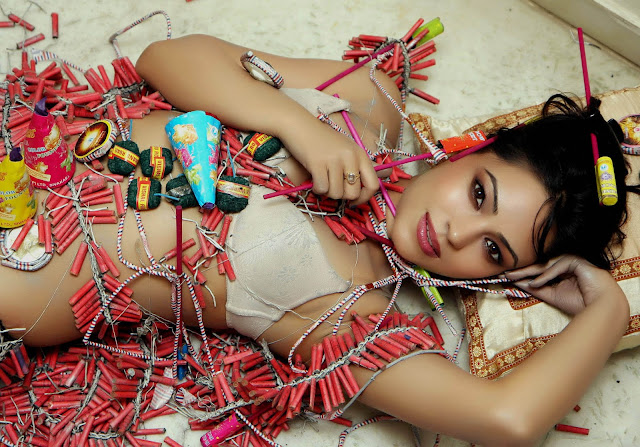 Devshi Khanduri Firecracker Photoshoot
