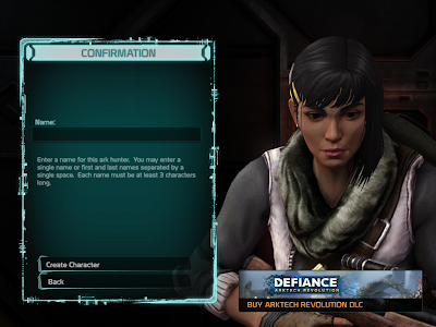 Defiance - Character Naming