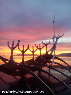 Islandia, Reikiavik, Reykjavík, Barco Vikingo, sol de medianoche, Sólfar, Sun Voyager, el viajero solar, Vikingos, Árnason, Jón Gunnar Árnason
