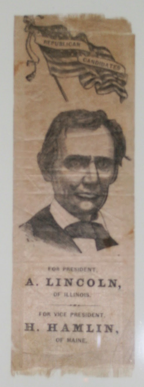 Lincoln campaign, presidential memorabilia collectibles, art conservation, textile conservator