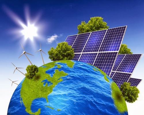 energy sources: solar energy, wind energy, hydropower, geothermal ...