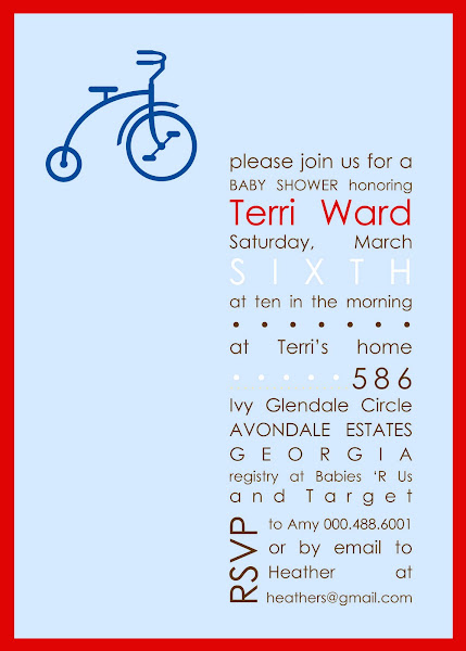 Vintage Trike Baby Shower Invitation
