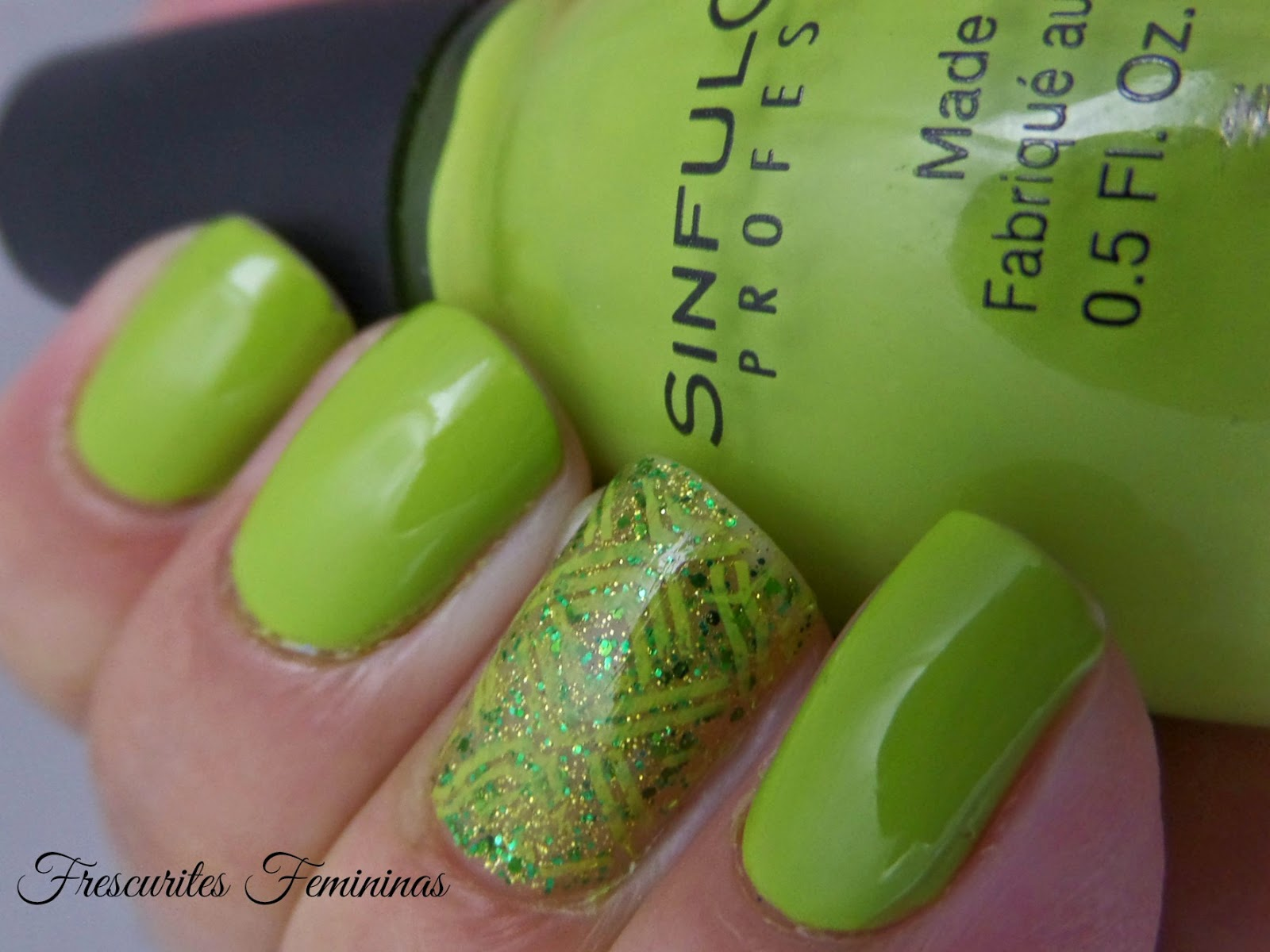 Sinful, Colors, Innocent, Verde, Nail, Polish, Esmalte, Glitter, Carimbo