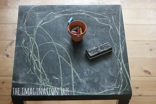 We Have A Couple Of These £5 Ikea U201cLacku201d Side Tables For The Girls To Play  And Create On. I Painted One With The Blackboard Paint From When I Made The  ...