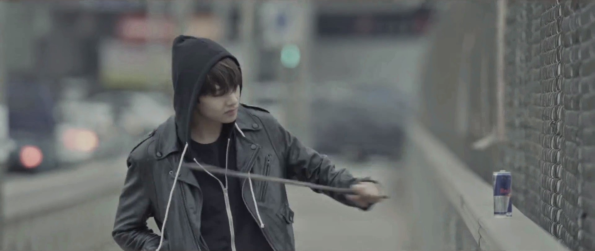 Bangtan's V in I Need You MV