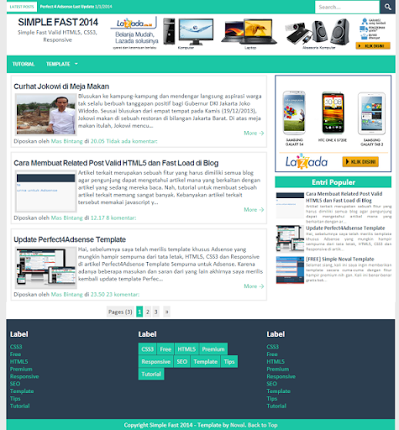 Template Blogger Seo Simple Fast 2014