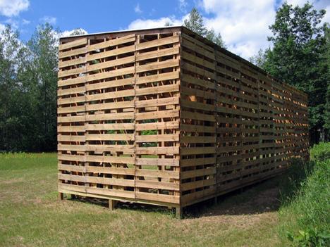 Caba a construida con palets - Como se hace una casa de madera ...