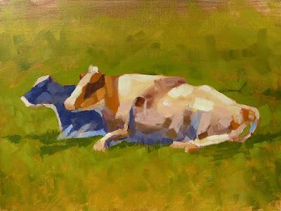 No. 345 - Cows in a Field