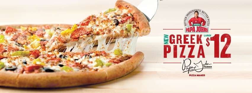 Papa John 39 S Greek Pizza 2017