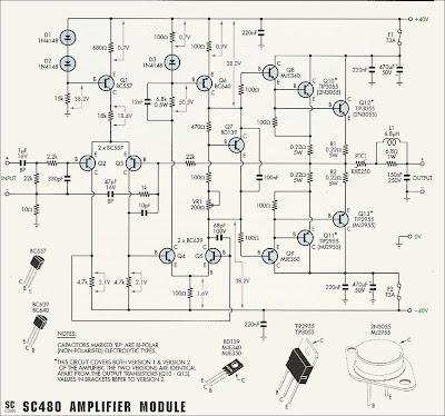 50w-70w power amplifier with 2n3055  u0026 mj2955