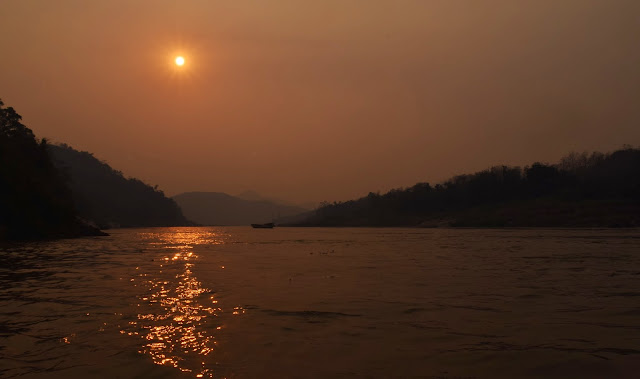 Sunset on the Mekong River