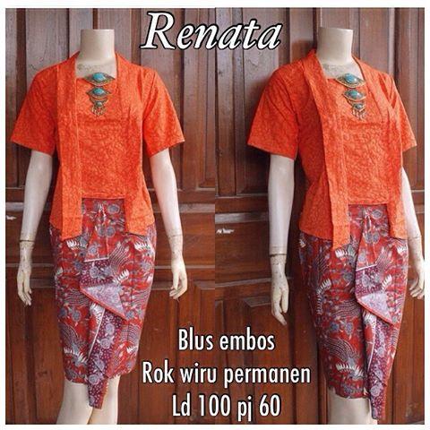 5 Model Baju Kebaya Embos Renata 100rb