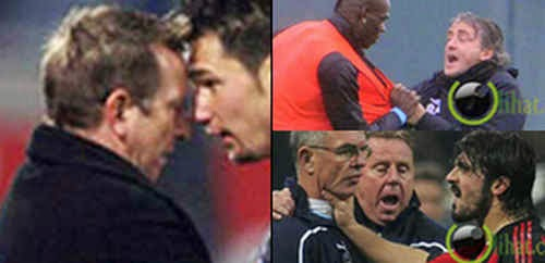 7 Perkelahian Hebat antara Pelatih dan Pemain Sepakbola