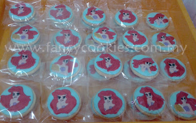 princess ariel the little mermaid cookies