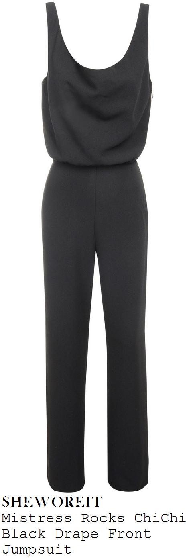 vicky-pattison-black-sleeveless-draped-wide-leg-jumpsuit