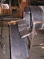 trommel, expel, discharge tray