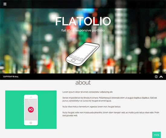 Flat Postfolio Responsive Grid System framework Wordpress Theme